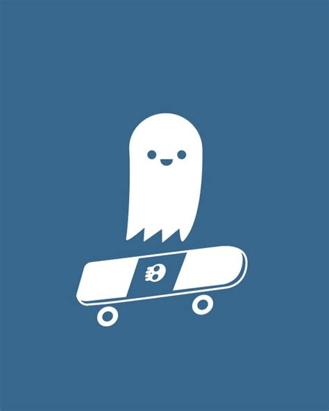 Skater Ghost skate ghost canvas print by terry irwin society6