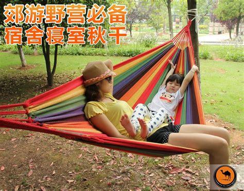 Murah Thick Canvas Hammock Tempat Tidur Gantung Orange Best thick canvas hammock tempat tidur gantung orange lazada indonesia