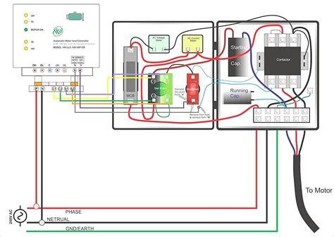 single phase submersible pump starter wiring diagram