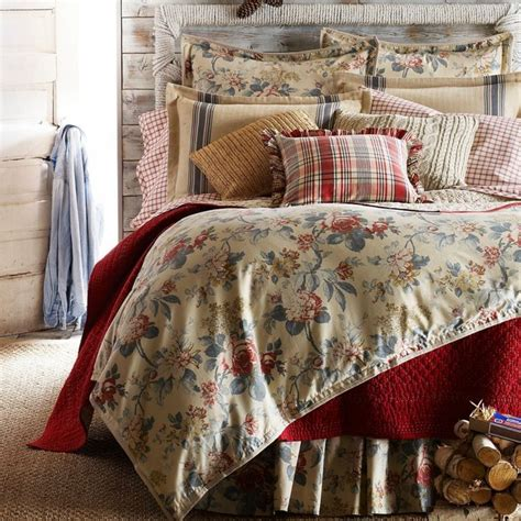 ralph lauren lake house floral 4 pc queen comforter