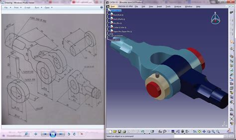 Knuckle Joint 3d Drawing