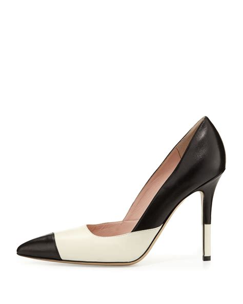 Two Tone Pumps kate spade lentica two tone leather in beige