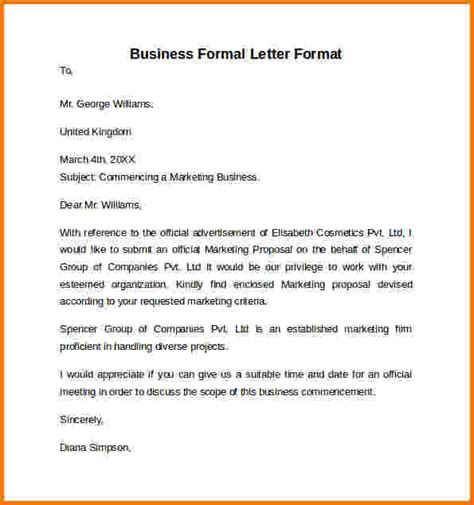 exle formal letter giving information 7 formal letter of suggestion financial statement form