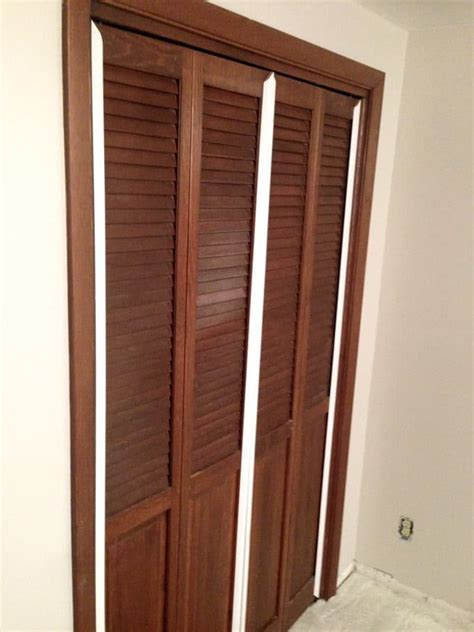 Plywood Closet Doors by Bi Fold To Faux Shiplap Closet Doors Bright Green