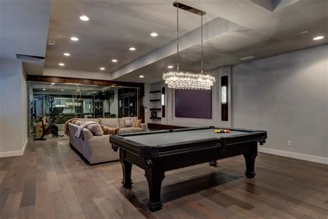 the finished basement company multifunctional contemporary family room in basement
