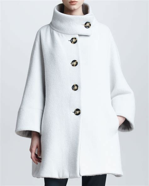 swing coat definition armani collezioni funnel neck fleece swing coat pradux
