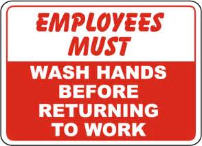 Online Bathroom Design Tool employees must wash hands sign d5717 by safetysign com
