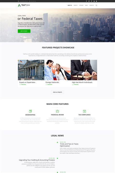 Tax Preparation Website Design Arts Arts Tax Preparer Website Template