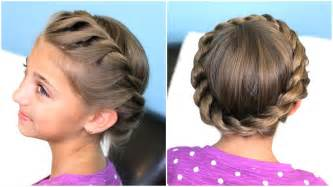 criwn hair cut how to create a crown twist braid updo hairstyles youtube