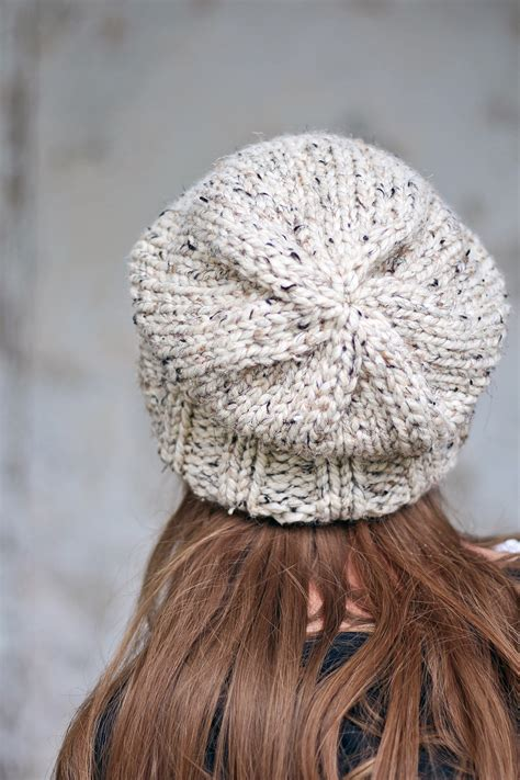 wisdom s slouchy hat knitting pattern brome fields