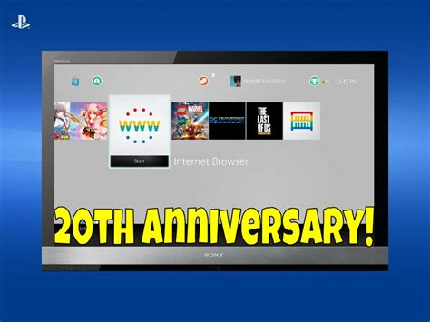 ps4 themes 20th anniversary playstation 20th anniversary ps4 theme youtube