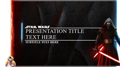 wars powerpoint template wars awakens powerpoint template on behance