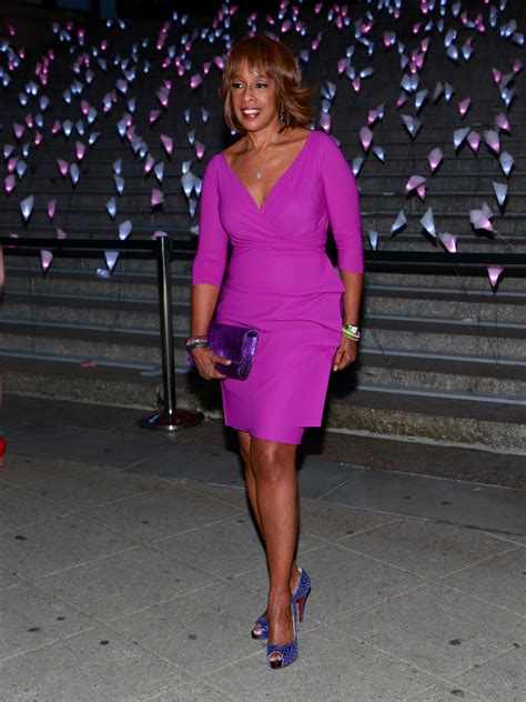 gayle king wore a bright pink number bonds with