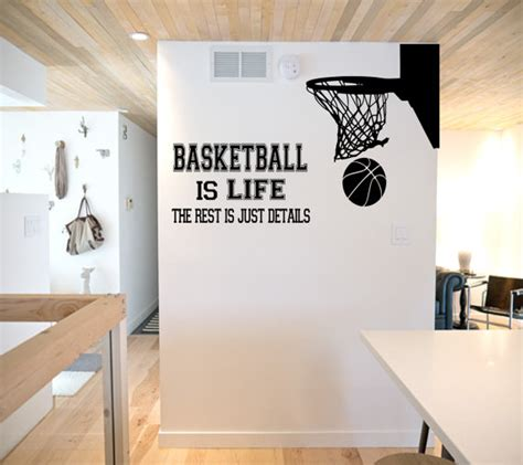 sports wall stickers for bedrooms basketball is wall decal basketball wall decor