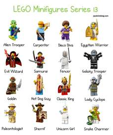 characters lego minifigures series 13