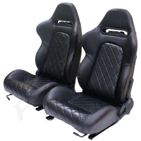 reclining bucket seat black pvc leather eff reclining bucket car seats for smart