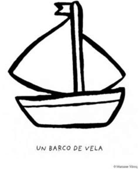 barco dibujo simple dibujos para colorear de barcos