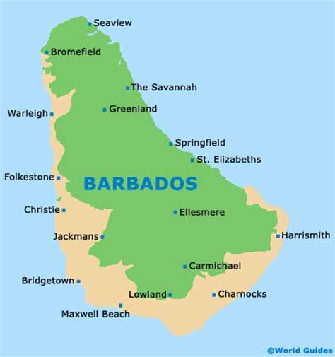 where is barbados on the world map map of church grantley airport bgi