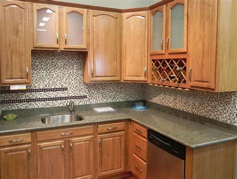 Kitchen Cabinets Ideas Photos Kitchen Backsplash Ideas With Oak Cabinets Home Design Ideas