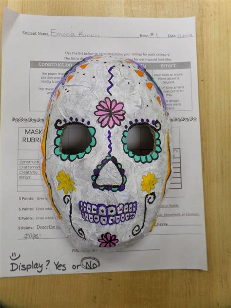 new year mask lesson adventures of a middle school 8th grade sugar