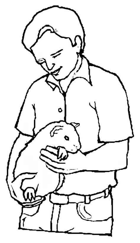 Guinea Pig Coloring Pages Coloringpages1001 Com Guinea Pig Colouring Pages