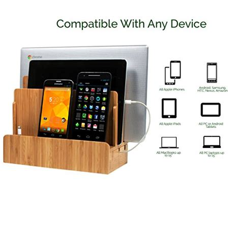 the g u s bamboo multi device charging station and dock with g u s multi device charging station dock organizer