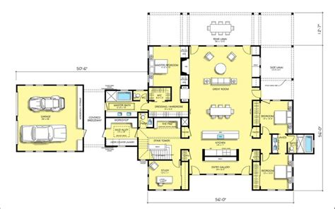 floor plan modern farmhouse cottage inspiration