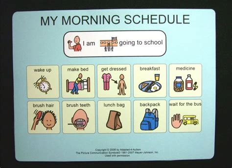 printable daily schedule for adhd child 14 awesome daily visual schedule autism images for my