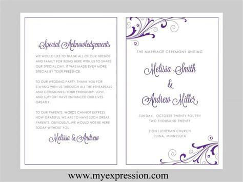 6 wedding programme template word besttemplatess