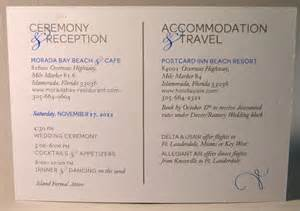 accommodation card for wedding reception accommodation cards