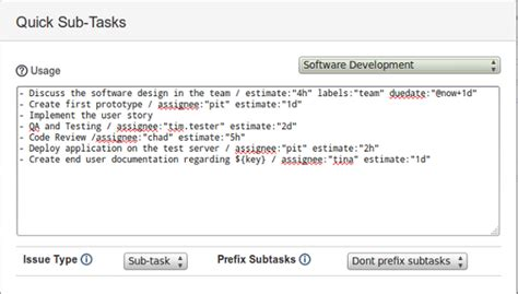 Quick Subtasks For Jira Atlassian Marketplace Jira Story Description Template