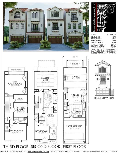 town house plans 25 best ideas about duplex plans on duplex