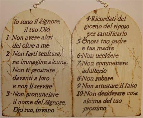 le tavole dei comandamenti i dieci comandamenti