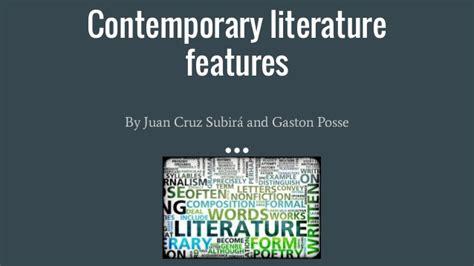 contemporary novels contemporary literature features
