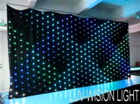 stage curtains with led lights luv lvc306 p20 stage lighting led curtain led video