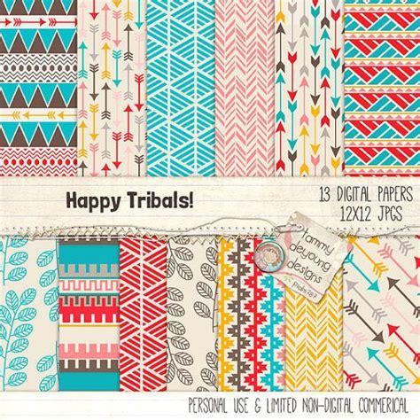 tribal pattern paper tribal digital paper aztec tribal backgrounds arrows