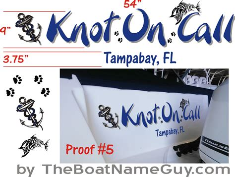 boat knots designs knot on call boat name design install ta clearwater