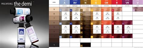 paul mitchell the color chart paul mitchell the demi color chart color charts