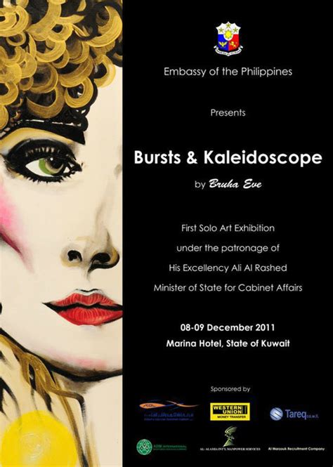 templates for art exhibition invitations bursts kaleidoscope art exhibition by bruha eve
