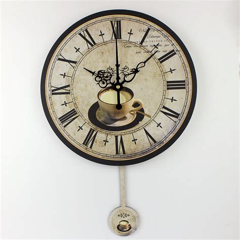 decorative wall clock modern coffee large decorative wall clocks silent home