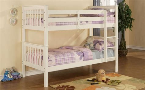 White Wooden Bunk Beds With Mattresses Limelight Pavo Wooden Bunk Bed Mattress