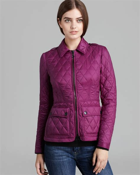 Burberry Brit Jacket Quilted by Burberry Brit Ivymoore Quilted Jacket In Purple Bright