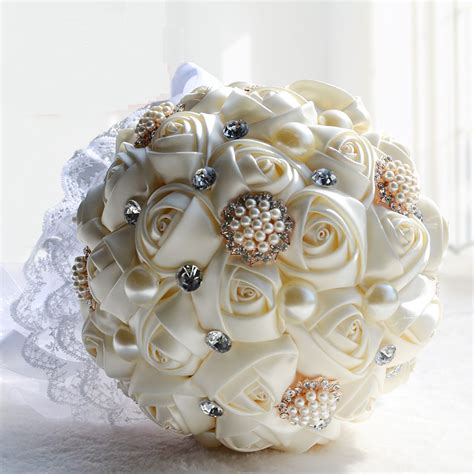 Handmade Wedding Bouquet - 2016 bridal bridesmaid wedding bouquet cheap new luxury