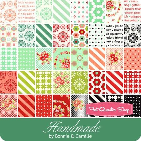 Handmade Fabrics - handmade moda treat bonnie camille for moda fabrics