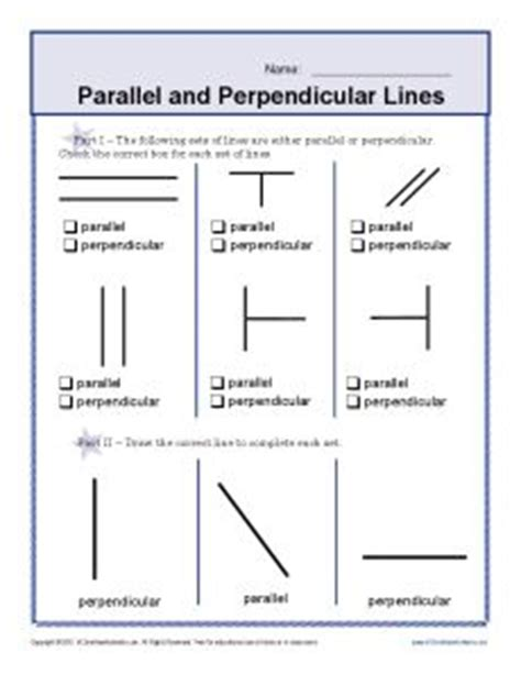 parallel and perpendicular slopes worksheet worksheets on