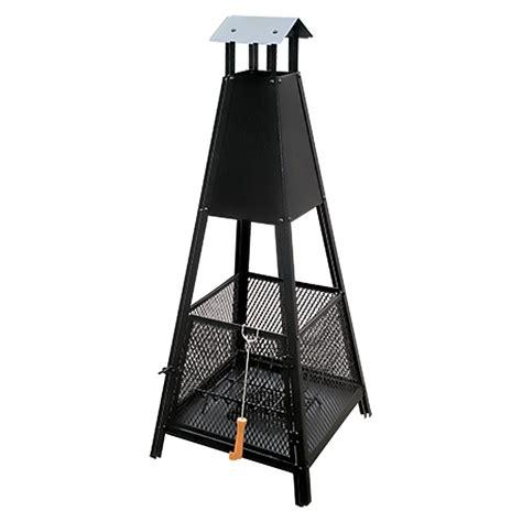 feuerkorb bauhaus grillstar terrassenfeuer 40 x 40 x 143 cm pyramidenform
