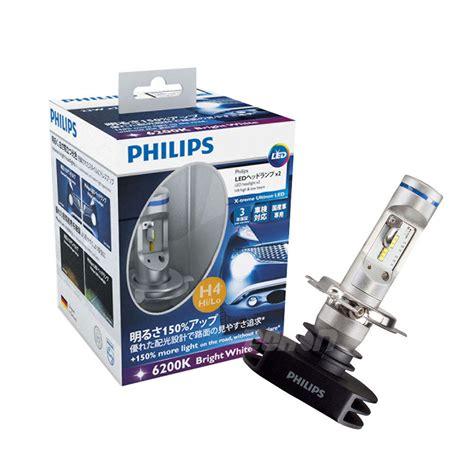 lu led depan h4 h 4 motor 1set philips led h4 headlight x treme ultinon high low