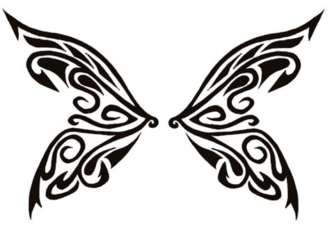 butterfly wings tattoo designs tribal butterfly wings stencil tattooshunt