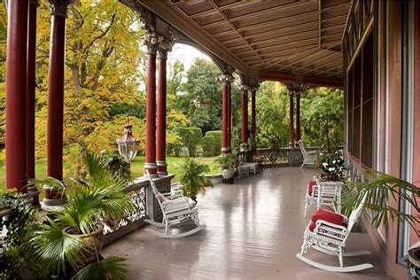 veranda in house octagon house joseph pell lombardi architect
