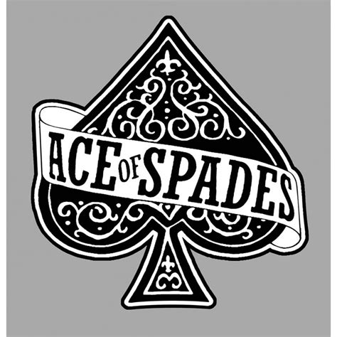 Of Spades Stickers motorhead ace of spades sticker cafe racer bretagne